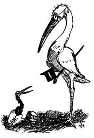 The Harvard Lampoon - Lampoon's Ibis Mascot c.1888