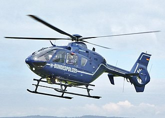 Police aviation - An EC 135 of the German Federal Police