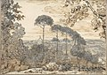 Landscape with Domed Church (Smaller Italian Sketchbook, leaf 38 recto) MET DP269446.jpg