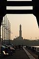 Lanterna di Genova, scorcio dal Porto antico di Genova al tramonto.jpg