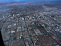 Las Vegas strip from the air (3192201540).jpg