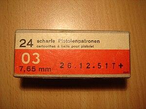 7.65×21mm Parabellum - Swiss Army 7.65mm Parabellum last batch