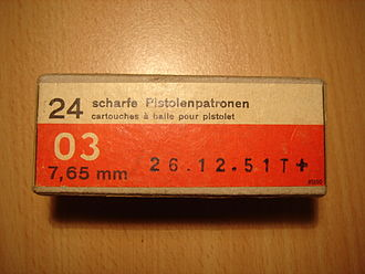 7.65×21mm Parabellum - Swiss Army 7.65mm Parabellum last batch