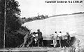 Launching a York boat on to the Saskatchewan River at Prince Albert, ca 1907..jpg