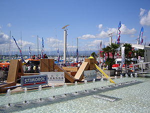 Lausanne-Ouchy during an extreme sports compet...