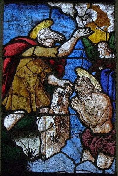 Vitrail de la vie de Saint-Jean-Baptiste de la chapelle Saint-Fiacre du Faouët (56).