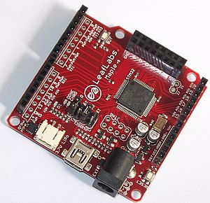 STM32 - Leaflabs Maple. Arduino-style board with STM32F103RBT6 microcontroller.