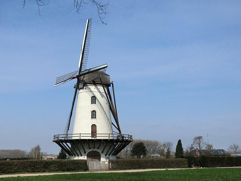 Wind mill Fauconniersmolen, Oordegem, Lede, Belgium