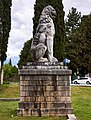 Left side of the restored Lion of Chaeronea in Boeotia.jpg