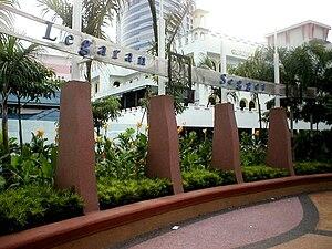 Walkway - The Legaran Segget walkway in Johor Bahru, Malaysia.