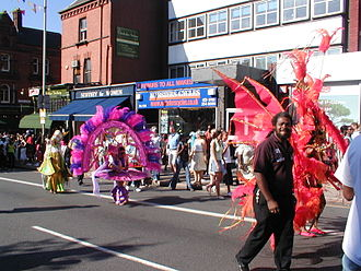 British African-Caribbean people - Image: Leicester Caribbean carnival