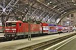 Leipzig Hauptbahnhof Gleishalle mit 143 349-9.JPG