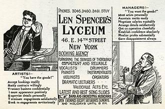 Len Spencer - Advertisement for Len Spencer's Lyceum, ca. 1912.