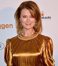 Lena Endre på Guldbaggegalan den 21 januari 2013.