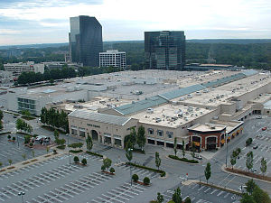 Lenox Square - An aerial view of Lenox Square before its major renovation.