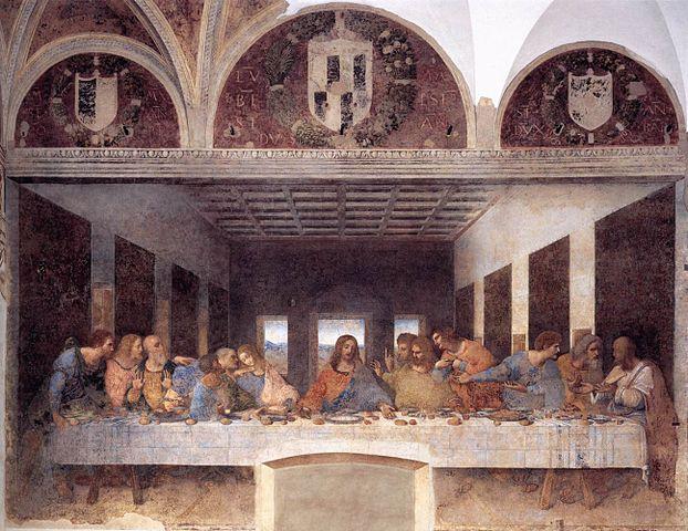 Leonardo da Vincis målning - Den sista måltiden