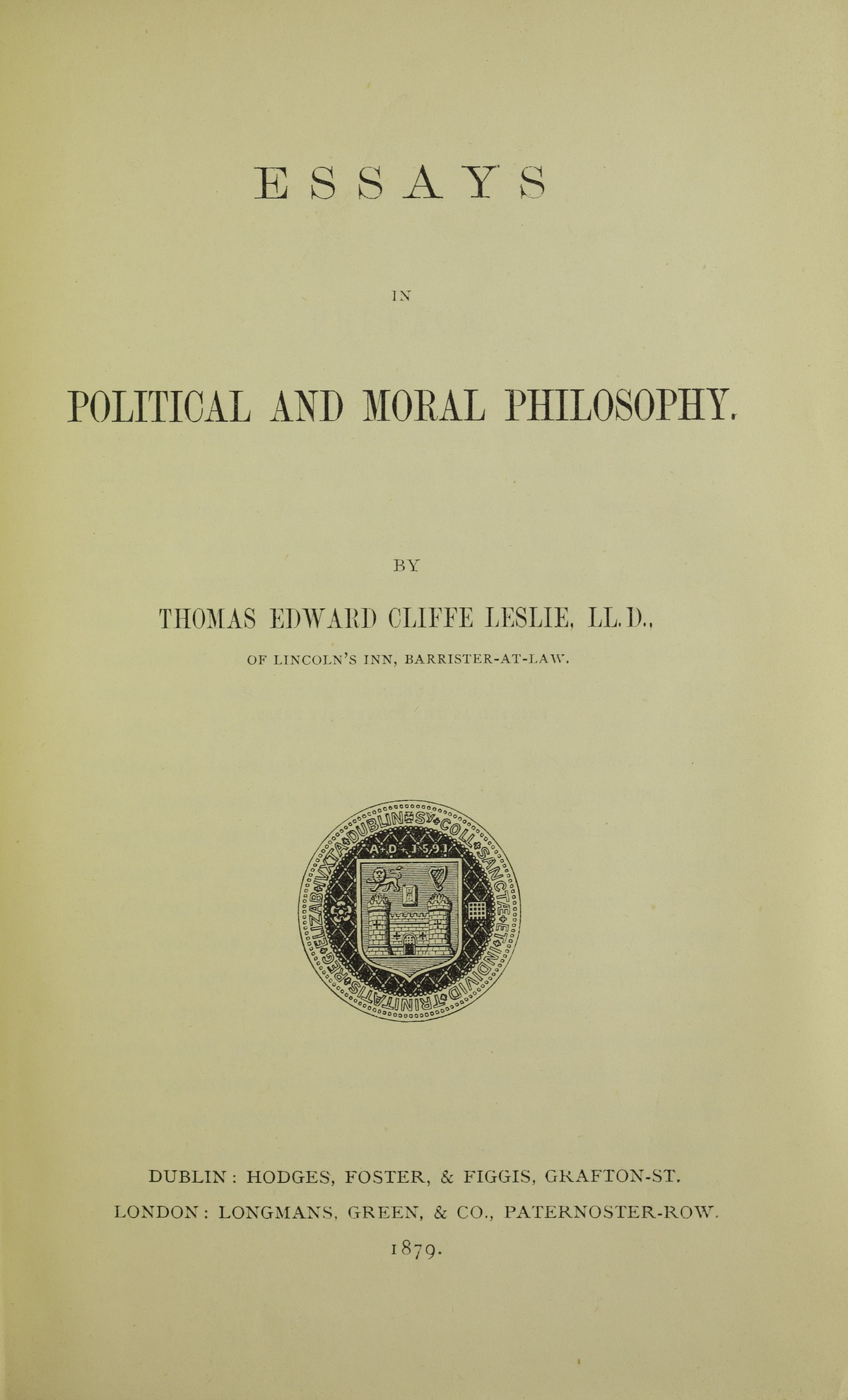 Essay moral philosopher political