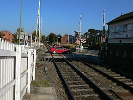 Level crossing, Wem - geograph.org.uk - 594653.jpg