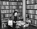 Librarian working at the Pointe Coupee Parish Parish library in New Roads Louisiana in 1936.jpg