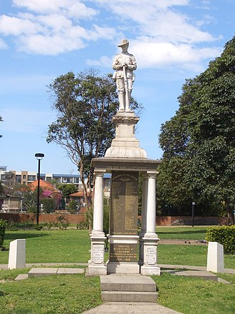 Lidcombe - War Memorial in Lidcombe Remembrance Park, corner of James and Joseph Streets