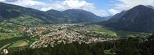 View of Lienz, background Kreuzeck group