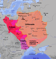 Lietuva ir Lenkija.Lithuania and Poland 1387.png