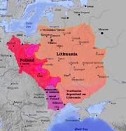 Lietuva ir Lenkija.Lithuania and Poland 1387
