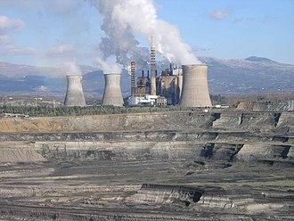 Megalopolis, Greece - Lignite mining near Megalopoli