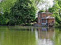 Lilypond Cottage fishing lodge and lake at Matching, Essex, England 04.jpg