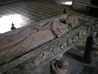Limburg Cathedral - Table tomb of Konrad Kurzbold, now in the northern transept