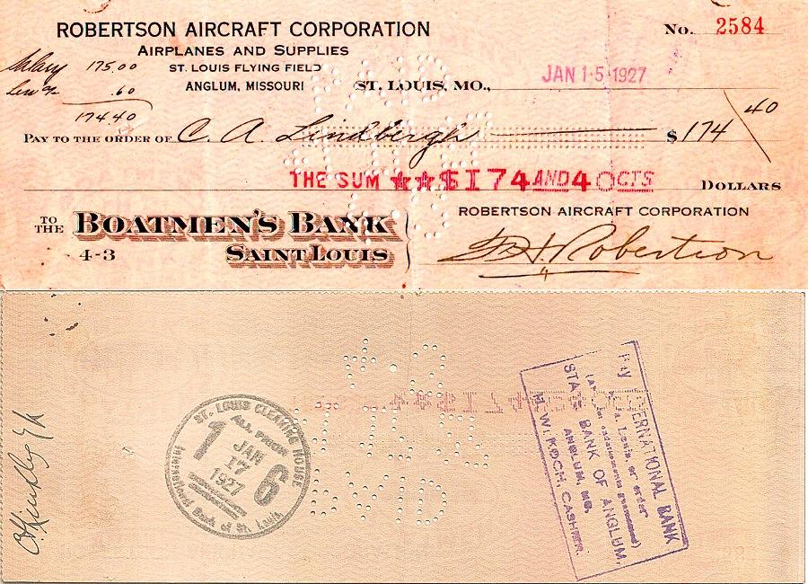 Lindbergh check