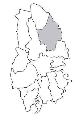 Lindes og Ramsbergs minebys beliggenhed i Västmanland.