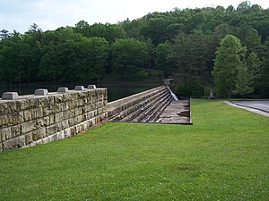 National Register of Historic Places listings in Raleigh County, West Virginia - Image: Little Beaver State Park Dam