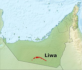 Liwa Oasis - Location in the United Arab Emirates