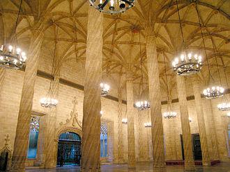 Pere Compte - Hall of the Columns in the Llotja de la Seda, Valencia.