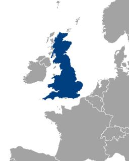 Kort over Storbritannien (mørkeblåt)