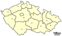 Location of Czech city Benesov.png