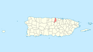 Location of Vega Alta in Puerto Rico