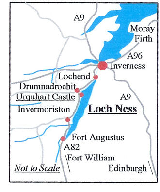 Loch Ness - Map of Loch Ness