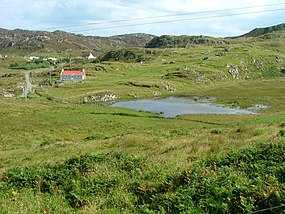 Lochan and houses near Calbost - geograph.org.uk - 926389.jpg