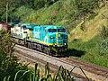 Locomotiva de comboio que saía sentido Guaianã do pátio da Estação Ferroviária de Itu - Variante Boa Vista-Guaianã km 201 - panoramio (2).jpg