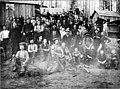 Logging crew at camp, possibly Deep Lake, Washington, 1904 (INDOCC 147).jpg