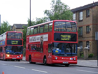 Bus bunching - Two buses together on the same route
