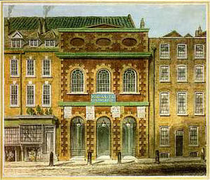 The Bad Taste of the Town - King's Theatre, Haymarket before a fire in 1789