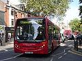 London United DE90 on Route 272, Turnham Green Church (14266334533).jpg