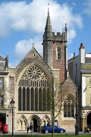 College Green, Bristol - Image: Lord Mayor's Chapel and tower
