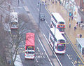 Lothian Buses buses in Princes Street, Edinburgh, 4 April 2010.jpg