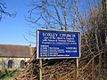 Loxely Church Sign - geograph.org.uk - 120901.jpg