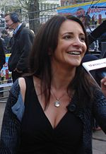 Porter at the premiere of Three and Out on 21 April 2008