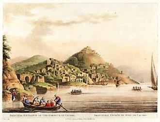 Telmessos - Image: Luigi Mayer The Harbor At Cacamo